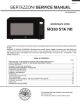 MO30 STA NE Installation, Use & Care Manual 2015