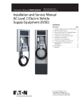 Installation and Service Manual AC Level 2 Electric Vehicle Supply