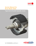 Tapered & Parallel Spindle Axles Service Manual for