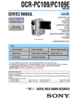 Service Manual -- Sony -- DCR-PC109