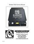 Radiant Flash Service Manual