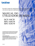 MANUAL DO UTILIZADOR DE REDE