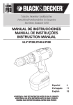 manual de instrucciones manual de instruções instruction manual