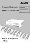 Manual do Proprietário Projector Multimédia MODELO PLC