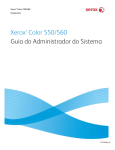 Xerox Color 550/560 Guia do Administrador do Sistema