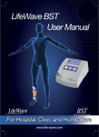 LifeWave BST User Manual For Hospital, Clinic and Home Care