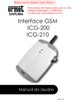 Interface GSM ICG-200 ICG-210