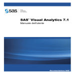 SAS Visual Analytics: Manuale dell`utente