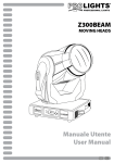 Manuale Utente User Manual Z300BEAM