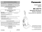 MC-UG775 Operating Instructions