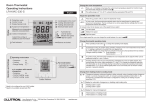 Room Thermostat Operating Instructions (041459)