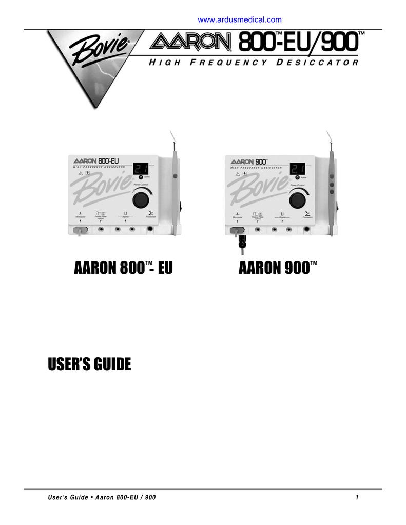 Aaron 900 manual de servicio