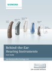 Behind-the-Ear Hearing Instruments