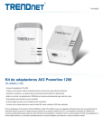 Kit de adaptadores AV2 Powerline 1200