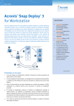 Acronis® Snap Deploy® 3 for Workstation