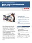 Bosch Video Management System Software v3