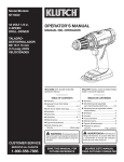 OPERATOR`S MANUAL - Northern Tool + Equipment