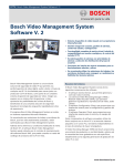 Bosch Video Management System Software V. 2