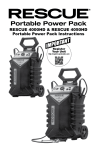 RESCUE 4000HD & RESCUE 4050HD Portable Power Pack