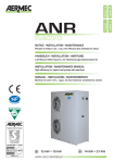 Air-cooled heat pumps chillers Aermec ANR Installation Manual