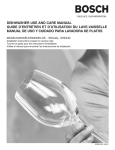 dishwasher use and care manual guide d`entretien et d`utilisation du
