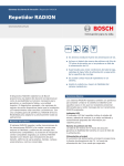 Repetidor RADION - Bosch Security Systems