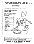 307830A EM590 Airless Paint Sprayer