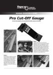 Manual de Pro Cut-Off Gauge