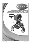 Contours® Options® 3 Wheeler Stroller Instruction Sheet Hoja de
