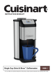 Single Cup Grind & Brew™ Coffeemaker