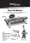 Manual en PDF de Port-O-Slitter