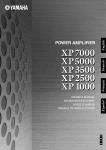 XP7000 XP5000 XP3500 XP2500 XP1000 Owner`s Manual