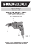 MANUAL DE INSTRUCCIONES INSTRUCTION MANUAL Taladro