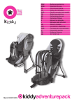 PaseoBebe.com | Manual de instrucciones | Kiddy Adventure Pack
