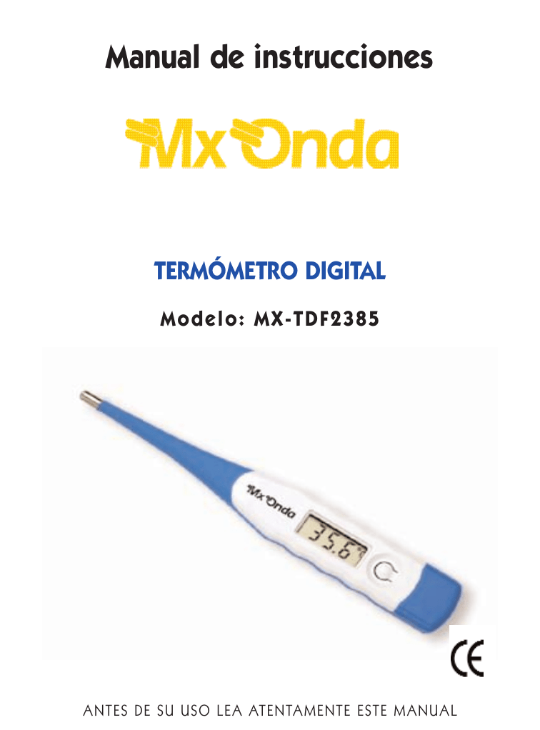 Manual De Instrucciones Termometro Digital Entrá y conocé nuestras increíbles ofertas y promociones. manualzilla com