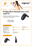 Kit Manoslibres Bluetooth para coche appBT02