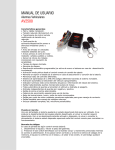 MANUAL DE USUARIO AV2500 - DC