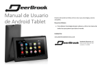 Manual de Usuario de Android Tablet
