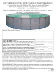 2011 Spanish Pro-Series Round Frame Pool Manual.indd