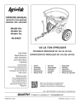 130 LB. Tow Spreader owNerS MaNUaL Model No. 45