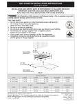 GAS COOKTOP INSTALLATION INSTRUCTIONS