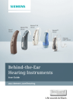 Siemens BTE Hearing Aids User Manual