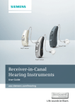 Siemens Receiver-in-Canal (RIC) Hearing Aids User Manual
