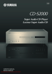 Yamaha CD-S2000 User Guide Manual