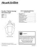 DUALBRITE® Motion Sensing Decorative Light