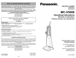 MC-V5006 Operating Instructions