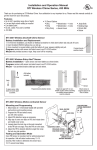 Installation and Operation Manual STI Wireless Chime Series, 433