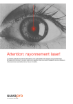 Attention: rayonnement laser! - SuvaPro