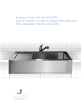 Installation Guide / Sink Unit 0050