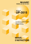 UP-3515 Operation-Manual Communication-System FR